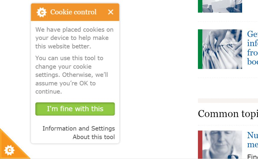 Information Commission Cookie Opt-In