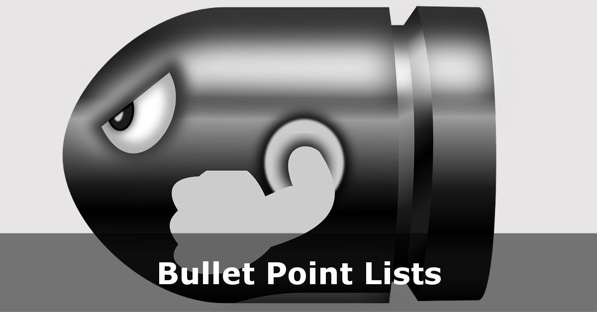 Numbered And Bullet Point Lists In Html Html5 Tutorial