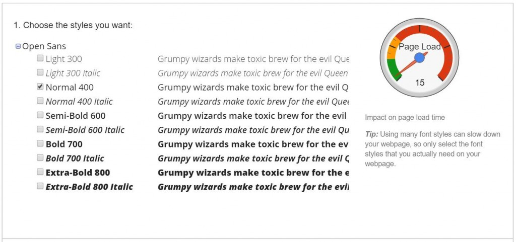 CSS Text Formatting: font-weight in Google Fonts